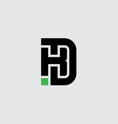 K and d - initials or logo kd - monogram vector