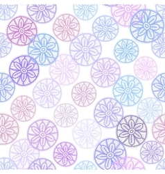 Lace seamless pattern with lilac pink purple blue vector