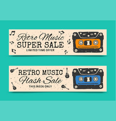 love music vertical banners vector image
