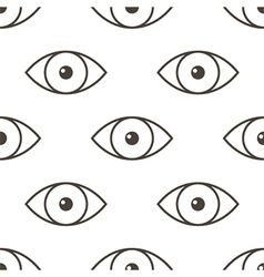 Monochrome human eyes seamless pattern back vector