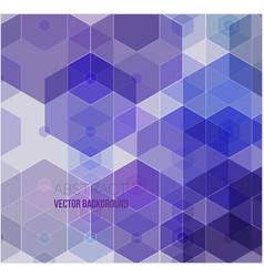 multicolor purple pink polygonal vector image