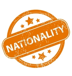 Nationality grunge icon vector