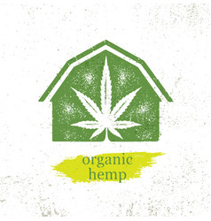 organic hemp farm raw protein supplement health vector image