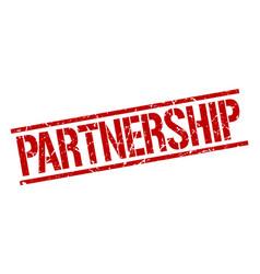 Partnership stamp vector