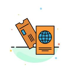 passport business tickets travel vacation vector image