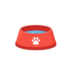 Pet food bowl for dog cat icon pet plate vector