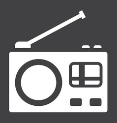 radio solid icon communication and website vector image