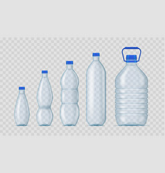 realistic detailed 3d blank plastic bottles vector image