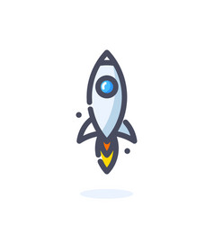 Rocket icon cartoon and mbe style logo vector