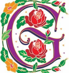 rosette letter G vector image