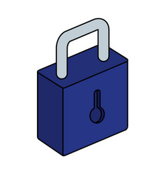 Safe secure padlock isolated icon vector