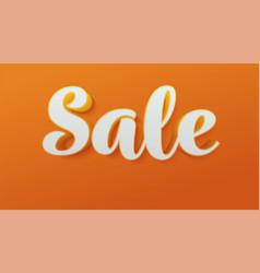 sale bright design sticker tag or label vector image