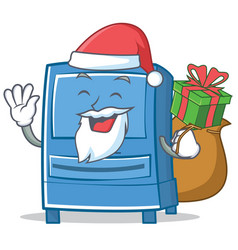 Santa mailbox character cartoon style vector