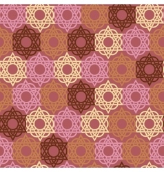 Seamless geometric background Arabic pattern vector image