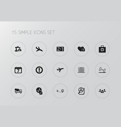 Set of 15 editable mixed icons includes symbols vector
