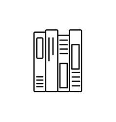 Shelf books icon vector