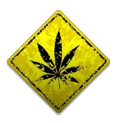 Sign of marijuana vector