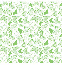 spring green fresh butterfly silhouette texture on vector image