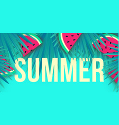summer trendy banner modern colorful background vector image
