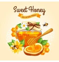 Sweet Honey Poster vector image