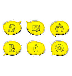 swipe up employees teamwork and loyalty points vector image