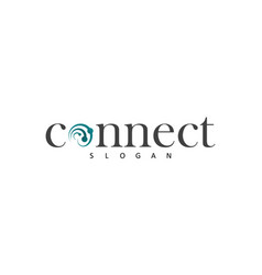 swirl connect technology logo vector image