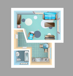 top view interior vector image