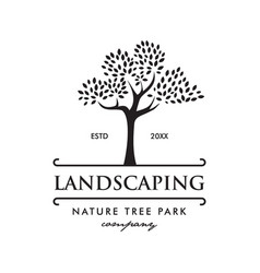 Tree nature park landscaping logo vector