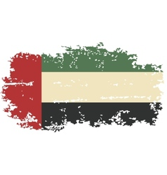 United Arab Emirates grunge flag vector