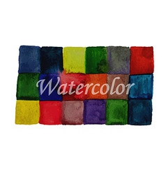 Watercolor Checked Background vector image