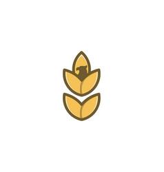 Wheat grain agriculture and eagle head logo vector