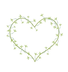 White Night Blooming Jasmines in A Heart Shape vector image vector image