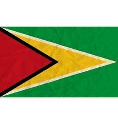Guyana paper flag vector image vector image