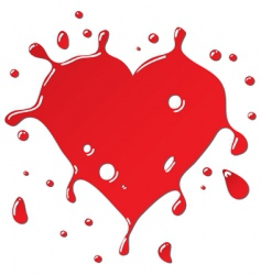 heart as red drops form vector image vector image