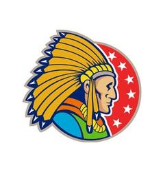 Native American Indian Headgear Side vector image