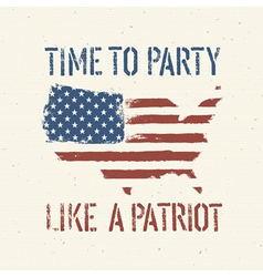 patriot party independence day vector image vector image