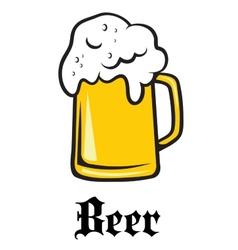 Beer tankard emblem vector image