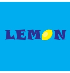 lemon with soft shadow vector image vector image