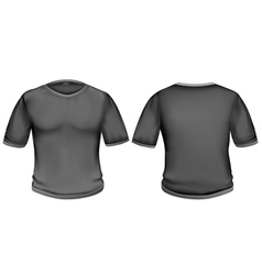 T-shirt black vector image vector image