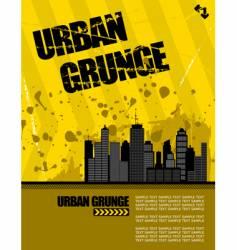 urban grunge vector image vector image
