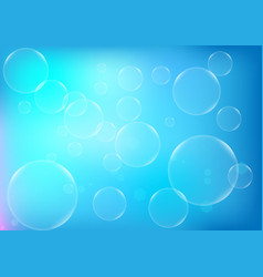 abstract bubbles with blue color background vector image vector image