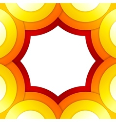 Abstract red and orange circles background vector