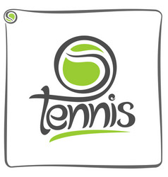 green ball of lawn tennis vector image vector image