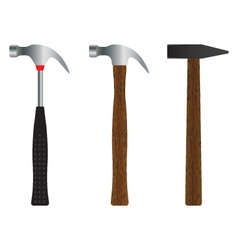 Hammer Different versions vector image