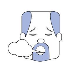 Man smoking cartoon vector