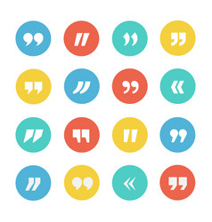 quotes icon set vector image