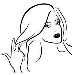 Abstract young beautiful women vector image vector image