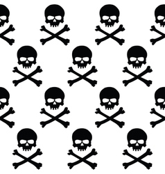 Black and white skulls background vector image vector image