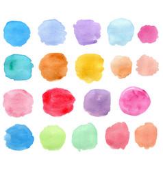 Bright watercolor blots vector