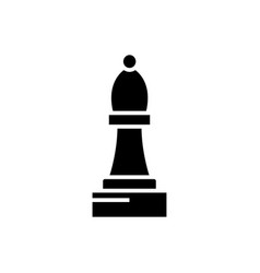 chess bishop icon black sign vector image vector image
